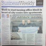 Press cutting development of office block in Derbyshire