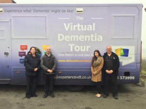 Tina Clough took part in the dementia tour. She is pictured second from right.